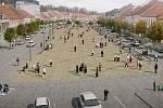 Vizualizace a návrhy na novou podobu Karlova náměstí včetně kašny.