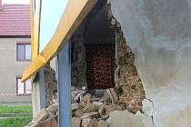V Moravských Budějovicích se zřítila nosná zeď domu