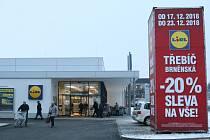 Nový Lidl v Brněnské ulici v Třebíči otevřel.