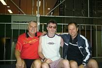 MS veteránů st. tenis Rio s Milanem Orlowskim 2008. Na fotografii František Kašpárek uprostřed.