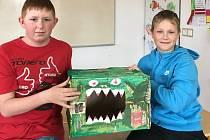Nejoriginálnější odpadkové koše vymysleli školáci z Čáslavic.