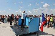 Ze Dne otevřených dveří na vojenském letišti u Náměště nad Oslavou.