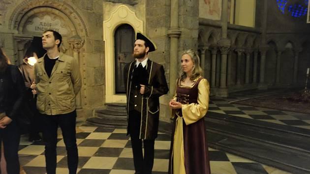 Večerní bazilikou sv. Prokopa provedou návštěvníky historické postavy