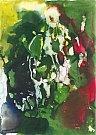 Martin Hronza: Chodec, dekalk, akvarel, 42 x 30 cm, 2005.