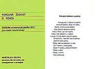 Třebíčský básník Miroslav Koupil patří k těm, kteří dosud posílají (nebo osobně doručují) své originální novoročenky.