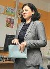 V pátek odevzdala svůj hlas v komunálních volbách čerstvá eurokomisařka Věra Jourová. Odvolila v třebíčské Základní škole Bartuškova.