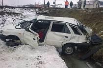 K další srážce vlaku s automobilem došlo před polednem tentokrát na železničním přejezdu v ulici Jihlavská v Okříškách.