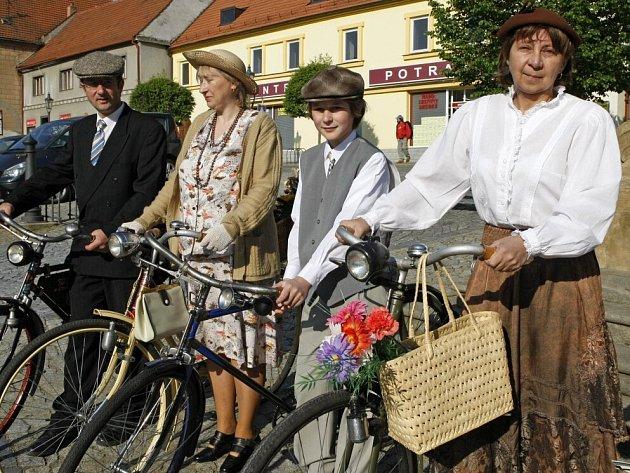 Historické velocipedy v Náměšti nad Oslavou.