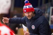 Třebíčský trenér Radek Novák v 37. kole Chance ligy mezi SK Horácká Slavia Třebíč a SK Kadaň.