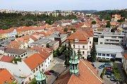 Pohledy z městské věže u kostela sv. Martina v Třebíči
