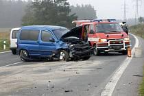 Další tři zraněné si vyžádala dopravní nehoda, která se stala v pondělí po osmé hodině ranní u Trnavy na Třebíčsku.