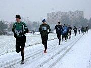 Silvestrovský běh v Třebíči.