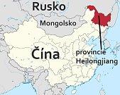 Čínská provincie Heilongjiang.