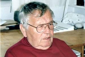 Ladislav Novák v ateliéru Emanuela Ranného v Třebíči v pátek 23. července 1999.