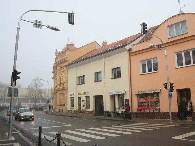 Historicky první semafory v Jaroměřicích.