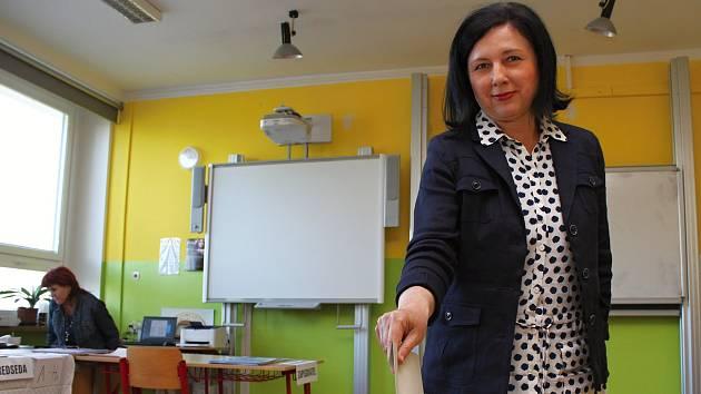 V Třebíči v pátek odvolila česká eurokomisařka Věra Jourová