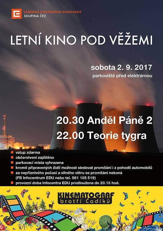 Jaderná elektrárna Dukovany připravila letní kino.