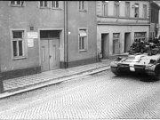 Dezorientovaní tankisté na Stařečce v Třebíči.