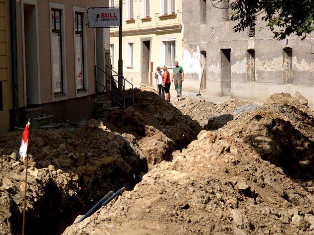 Hlavova ulice v Třebíči.