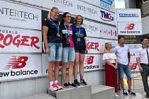 Zlato na republikovém mistrovství v kategorii žen od 40 do 49 let brala závodnice TJ Spartak Třebíč Milada Brabcová (na snímku uprostřed).
