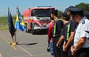 Nové zásahové vozidlo hasiči představili v sobotu veřejnosti.
