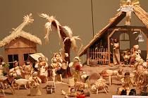 Tradiční vánoční výstava betlémů v konírně třebíčského zámku.