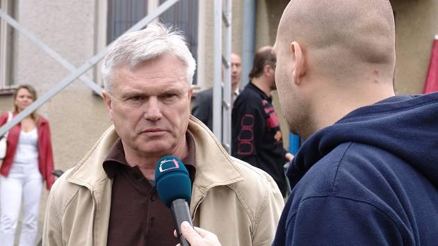 Trenér Velkého Meziříčí Radovan Zeman.