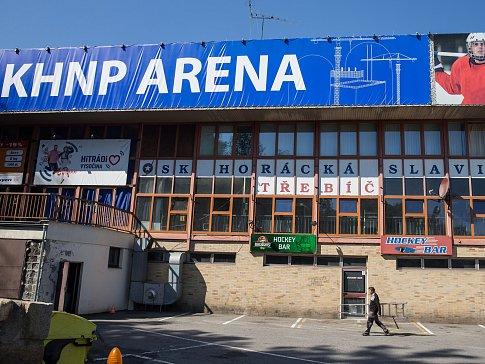 Hokejová KHNP Arena v Třebíči.