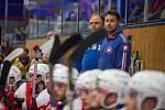 Hokejové utkání mezi SK Horácká Slavia Třebíč a HC Dukla Jihlava.