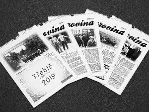 """Kalendář """"Třebíč u Boroviny 2019""""."""
