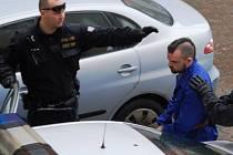 Marka Teplého přivezla k jihlavskému soudu policejní eskorta.