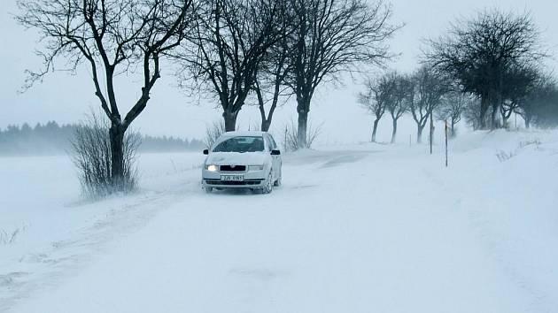 Takto to vypadalo ve středu na silnicích Třebíčska.