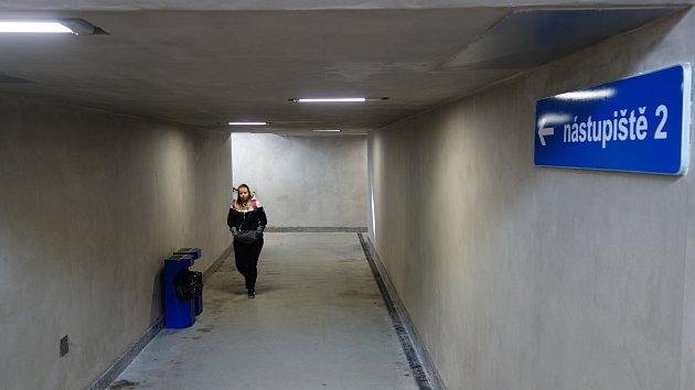 Podchod na vlakovém nádraží v Třebíči, který se dočká výzdoby.