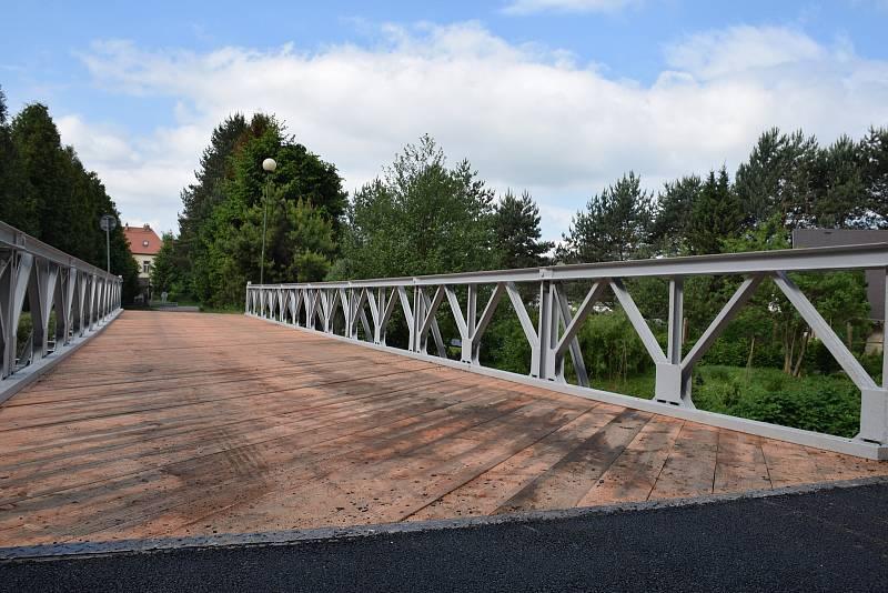 Most přes řeku Jihlavu v Poušově.