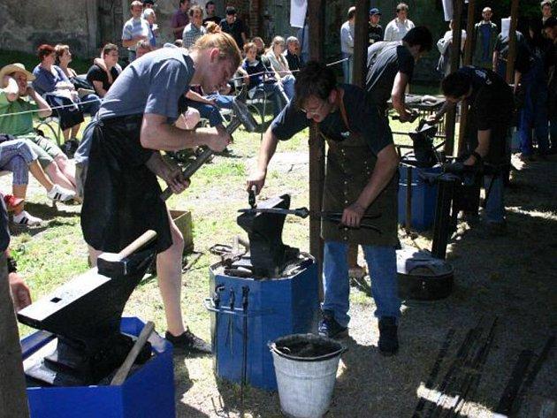 Na zámek v Náměšti nad Oslavou na Třebíčsku se začali sjíždět umělečtí kováři.