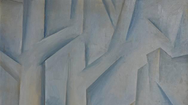 Krajinář Vlastimil Toman vytvořil i pozoruhodná kubistická díla