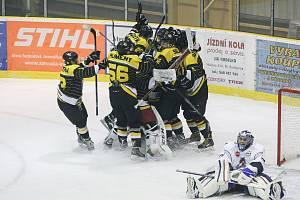 Hokejisté Moravských Budějovic, ilustrační foto.
