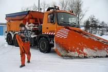 Situace na silnicích na Třebíčsku ve středu 11. února dopoledne.