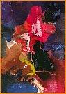 Martin Hronza: Výkřik, dekalk, akvarel.