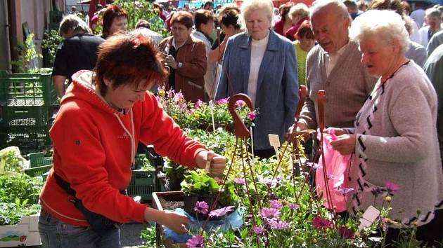 Největší zájem byl o květiny. Devátý ročník výstavy Dům a zahrada přilákal do Koněšína jako tradičně hodně lidí ze širokého okolí.
