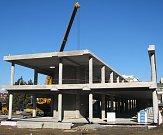 Stavba nové budovy B Střední průmyslové školy Třebíč.