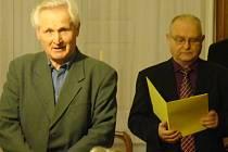 Za vznikem čtvrtého Vlastivědného sborníku Moravskobudějovicka stojí řada osobností, mezi nimi také Jan Nekula a Václav Kovář (zleva).