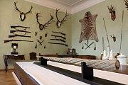 Muzejní noc v moravskobudějovickém Muzeu řemesel. Roh mořského kytovce narvala jednorohého.