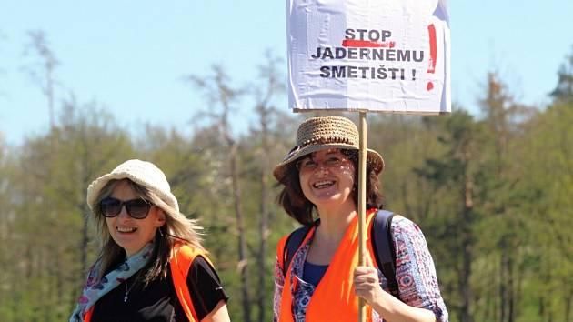 Protest proti úložišti, ilustrační foto
