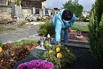 Dušičky 2020 na hřbitově v Jaroměřicích nad Rokytnou