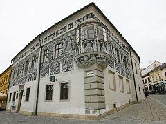 Malovaný dům v Třebíči.