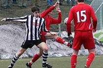 Fotbalisté Třebíče smlsli pětibrankovou výhrou nad Pelhřimovem.