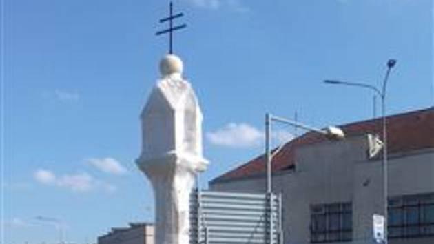 V Budějovicích nechali krásně opravit Boží muka v ulici 1. Máje.