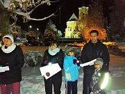 Zpívání koled v Martínkově.