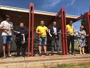 Vodní záchranáři otevřeli stanici na Dalešické přehradě.